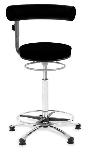 Thekenstuhl Sanus, Lehne und Sitz höhenverstellbar, Stoff, 63 - 89 cm