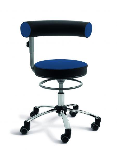 Sanus Gesundheitstuhl Kunstleder, Lehne und Sitz höhenverstellbar, Lehne im Sitzen 360° verstellbar