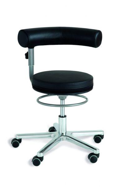 Sanus Air mit Pilates Kissen, Gesundheitsstuhl, Rückenlehne verstellbar, Lehne im Sitzen 360° schwen