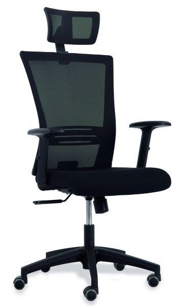 Bürostuhl für dynamisches Sitzen mit Lordosenstütze - Stoffsitz